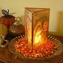 papierowy lampion na Halloween
