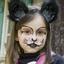 Makijaż kota na Halloween