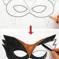 Rysowanie na szablonie maski