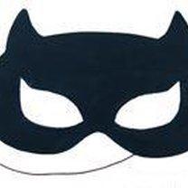 Maska dla dzieci z papieru - kot