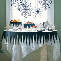 Halloweenowe nakrycie stołu