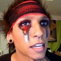 Makijaż na Halloween - zamek błyskawiczny