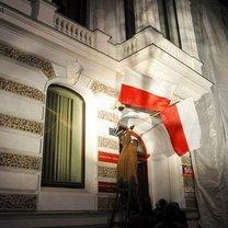 Wieszanie flagi polskiej