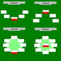 Rozmieszczanie flag w półkolu i kole