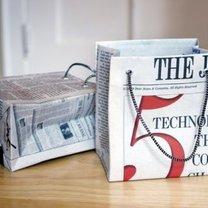 torebka na prezent z gazety