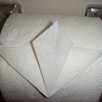 Origami na papierze toaletowym - serce 5