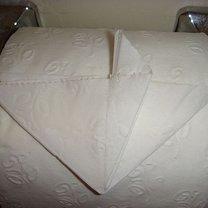 Origami na papierze toaletowym - serce 6