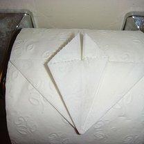Origami na papierze toaletowym - serce 7