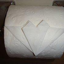 Origami na papierze toaletowym - serce 8