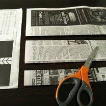 koszyk z gazety - krok 2.