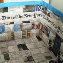koszyk z gazety - krok 11.