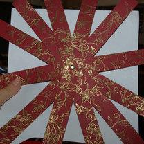 Ozdoba choinkowa z papieru - bombka 3