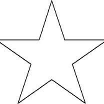 szablon gwiazdki