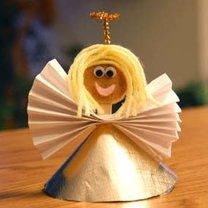 Aniołek na choinkę - projekt dla dzieci