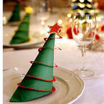 Pierścienie na serwetki na Boże Narodzenie