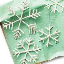 śnieżynka z drucików kreatywnych