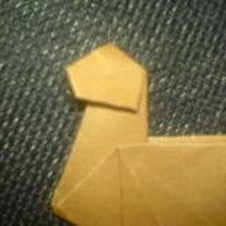 renifer origami - krok 16
