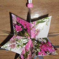 papierowa gwiazda na choinkę