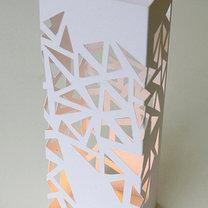 ażurowy lampion z papieru