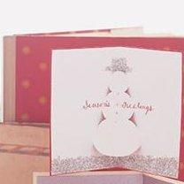 Kartka bożonarodzeniowa z bałwankiem 3d