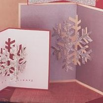 Kartka bożonarodzeniowa z śnieżynką