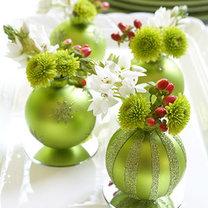 stroiki świąteczne z bombek