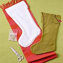 świąteczne skarpety - krok 2