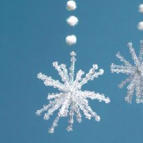 płatki śniegu na choinkę