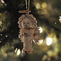 Aniołek z makaronu na choinkę