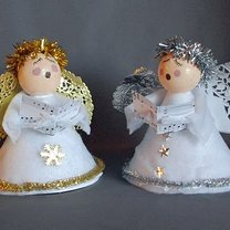Aniołki na Wigilię i Boże Narodzenie