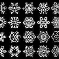Płatki śniegu z papieru