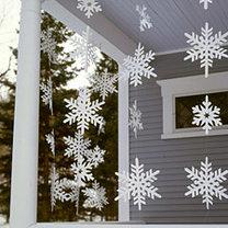 dekoracja - płatki śniegu