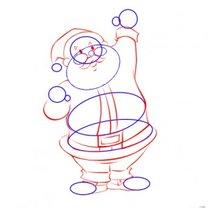 Mikołaj - rysunek - krok 4