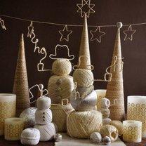 dekoracje bożonarodzeniowe ze sznurka