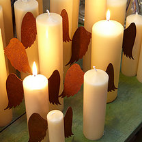 świeczki - aniołki