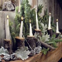 leśne dekoracje bożonarodzeniowe