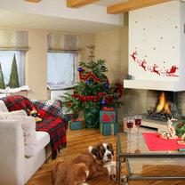 dekoracje świąteczne, aranżowanie wnętrz, dekoracja wnętrz, dekoracje welurowe, naklejki ścienne