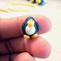 pingwin z modeliny