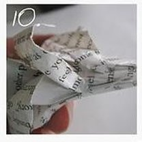 róża z papieru - krok 10