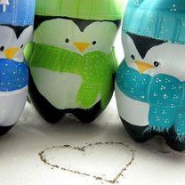 pingwiny z butelek