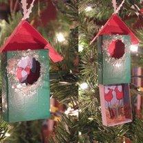 Ozdoby choinkowe - domki dla ptaszków