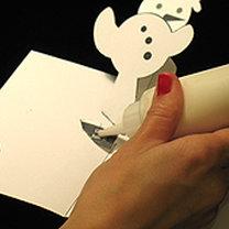 Kartka świąteczna z wyskakującym bałwankiem 25