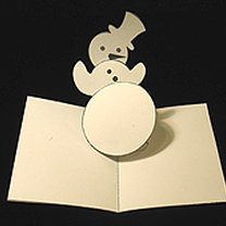 Kartka świąteczna z wyskakującym bałwankiem 28