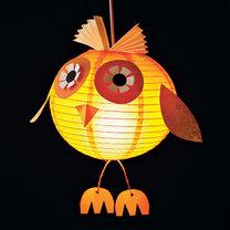 lampion - papierowa sowa
