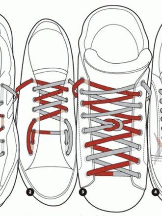oryginalnie zawiązane sznurówki