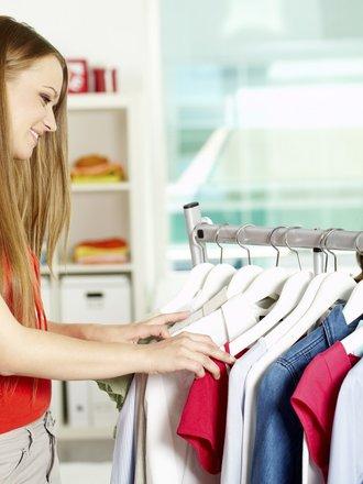 kupowanie ubrań