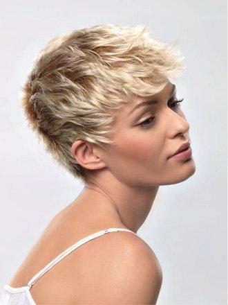krótka fryzura, idealna dla włosów cienkich