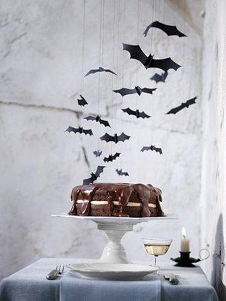 Wiszące nietoperze - dekoracja na Halloween