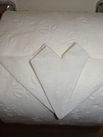 Papier toaletowy - serce origami