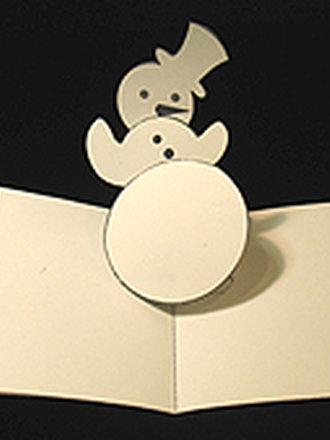 Kartka świąteczna z wyskakującym bałwankiem